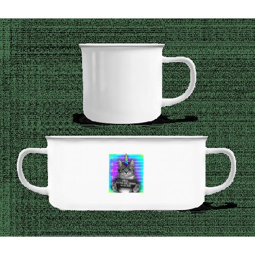 Ich Habe Das Einhorn Gefressen - Emaille-Tasse