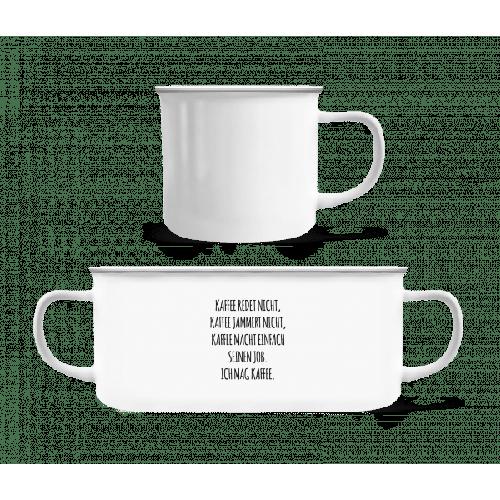 Ich Mag Kaffee - Emaille-Tasse