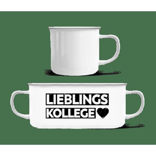 Lieblingskollege - Emaille-Tasse