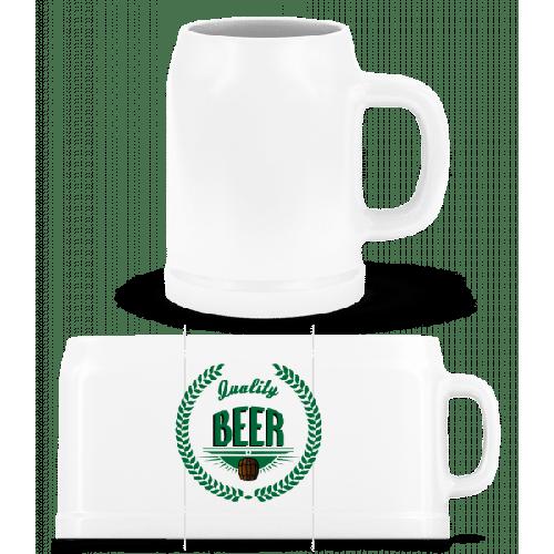 Quality Beer Logo - Bierkrug