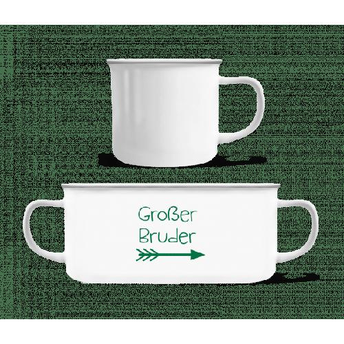 Großer Bruder - Emaille-Tasse