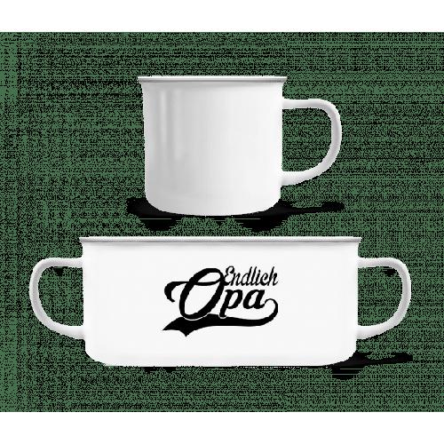 Endlich Opa - Emaille-Tasse