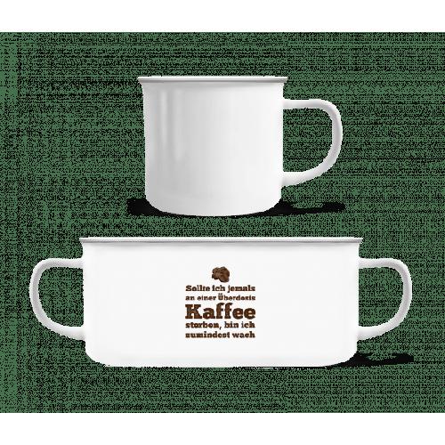 Überdosis Kaffee - Emaille-Tasse