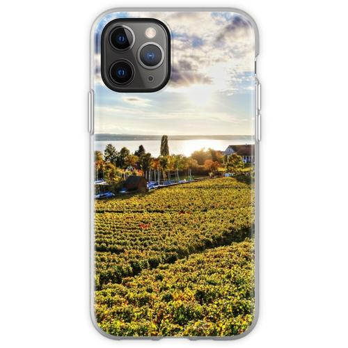 Sunset over Grape Orchards near Hagnau - Lake Constance Flexible Hülle für iPhone 11 Pro