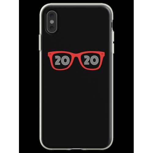 Brillen Brille 20/20 Optiker Augenarzt Hipster Optiker Flexible Hülle für iPhone XS Max