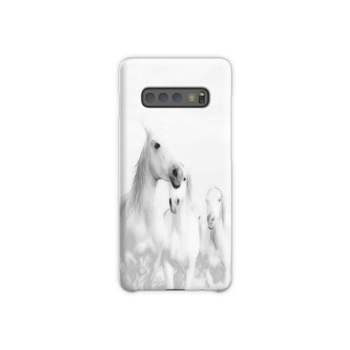 Eine Herde weißer Pferde Samsung Galaxy S10 Plus Case