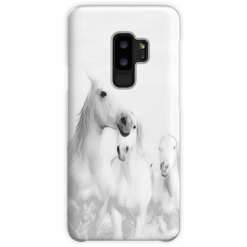 Eine Herde weißer Pferde Samsung Galaxy S9 Plus Case