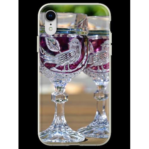 Kristall Weingläser Flexible Hülle für iPhone XR