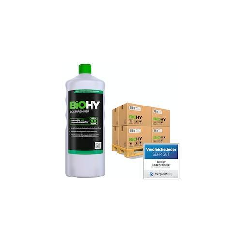 BiOHY Bodenreiniger (480x1l Flasche) | Konzentrat für alle Reinigungsgeräte und alle Hartböden | Angenehmer Geruch und streifenfreie Reinigung