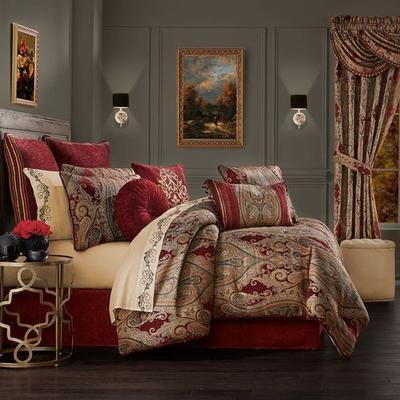Garnet Comforter Set, King, Garnet
