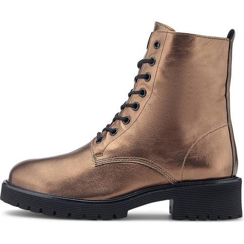 Högl, Metallic-Boots in bronze, Boots für Damen Gr. 39