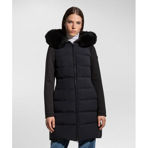 Peuterey Lange Jacke aus zwei Materialien