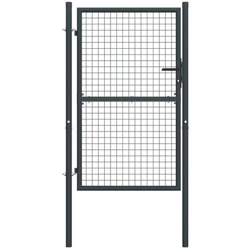Mesh-Gartentor Verzinkter Stahl 100 x 200 cm Grau