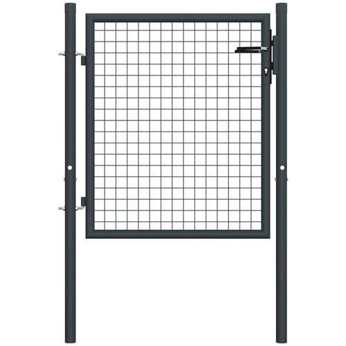 Mesh-Gartentor Verzinkter Stahl 100 x 125 cm Grau