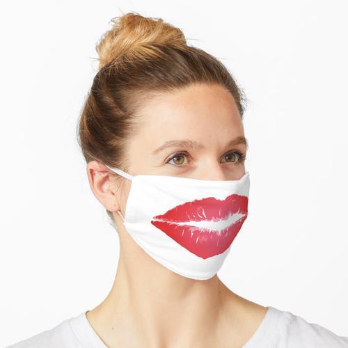 Roter Lippen-Lippenstift-Kuss Maske