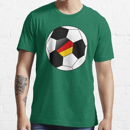 German Soccer Ball - German Football - German Flag Essential T-Shirt