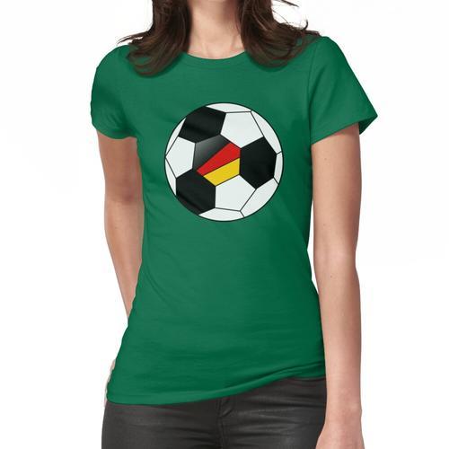 German Soccer Ball - German Football - German Flag Frauen T-Shirt
