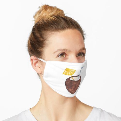 Aquarell Kokoswasser Maske