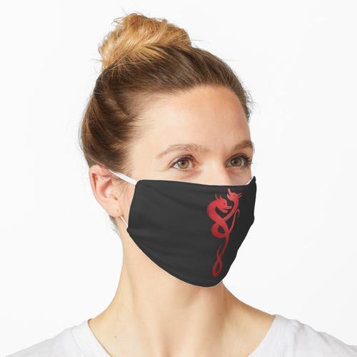 Naga Drachen Folie Rot Maske