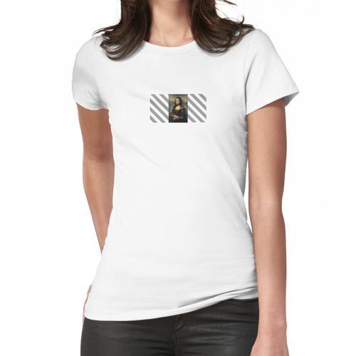 Mona Lisa Cremefarbener Stil Frauen T-Shirt