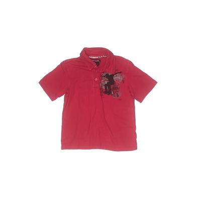 Hawk Short Sleeve Polo Shirt: Red Solid Tops - Size 5