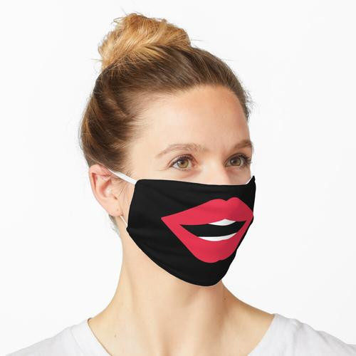 Rote Lippen, Lippenstift Maske