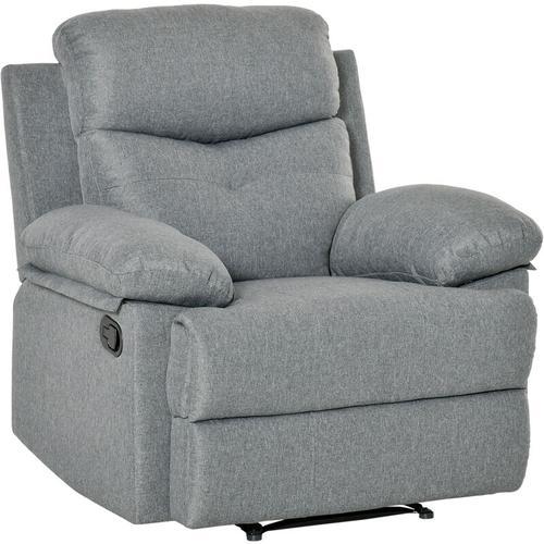 HOMCOM® Fernsehsessel TV Sessel Liegesessel Relaxsessel Liegefunktion 180° verstellbar - dunkelgrau