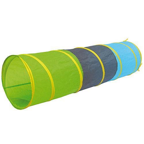 Kinder Spieltunnel 180 cm - Pop Up Krabbeltunnel Blau Grün mehrfarbig