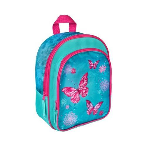 Kinderrucksack Butterfly türkis/pink