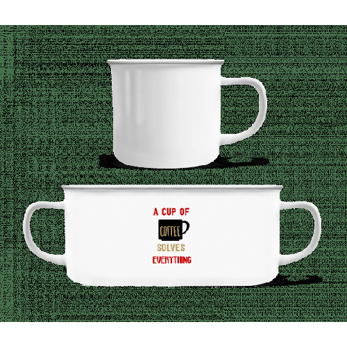 A Cup Of Coffee - Emaille-Tasse