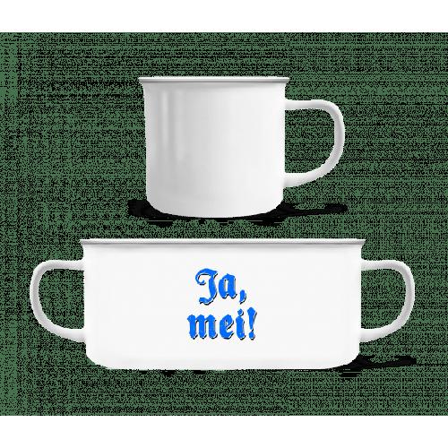 Ja, Mei! - Emaille-Tasse