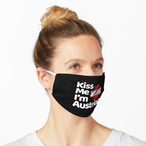 Küss mich Ich bin Österreicher aus Österreich Maske