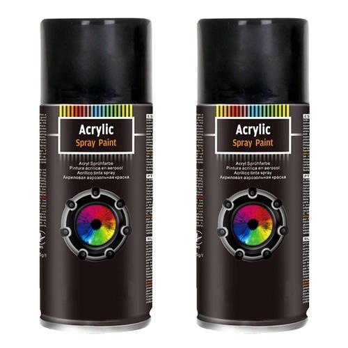 2x 400ml Schwarz Matt Uni Spraydose Lackspray Autolack Sprühdose Black 11306964
