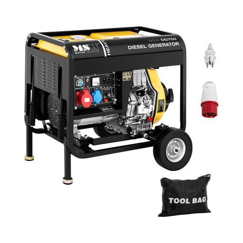MSW Notstromaggregat Diesel - 4.400 W - 12,5 L - 230/400 V - mobil MSW-DG750