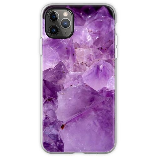 lila Kristallenergie Flexible Hülle für iPhone 11 Pro Max