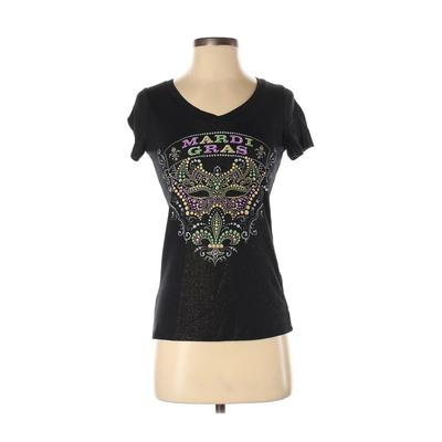 creative apparel concepts - creative apparel concepts Short Sleeve T-Shirt: Black Solid Tops - Size Small