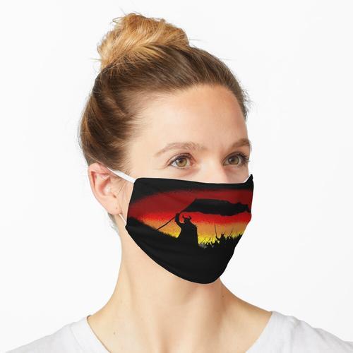 Schwarze Fahne Horde Maske