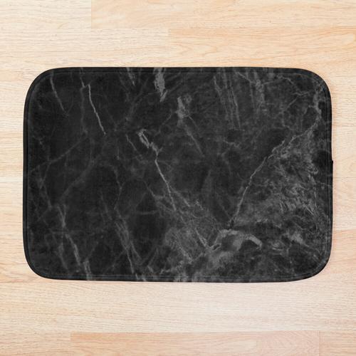 Luxus mattschwarzer Marmor Badematte