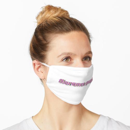 Florence Pugh Namensaufkleber Maske