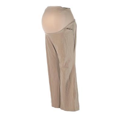 Motherhood Dress Pants - Super Low Rise: Tan Bottoms - Size Large Maternity