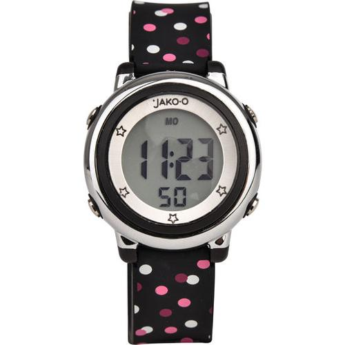 JAKO-O Kinder-Armbanduhr digital, schwarz