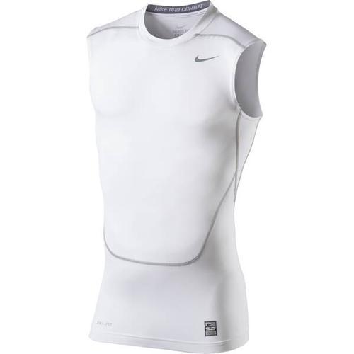NIKE Herren Unterhemd CORE COMPRESSION SL TOP 2.0, Größe L in White-Cool Grey