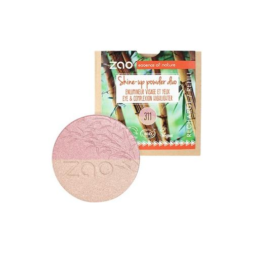zao Gesicht Mineral Puder Refill Shine-Up Powder Nr. 311 Pink & Gold 9 g
