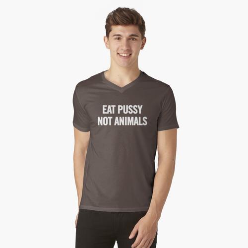Iss Muschi t-shirt:vneck