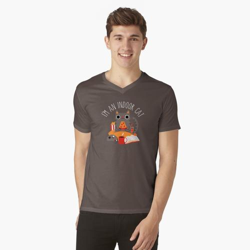 Indoor Cat t-shirt:vneck