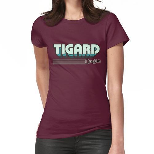 Tigard, Oregon   Retro Streifen Frauen T-Shirt