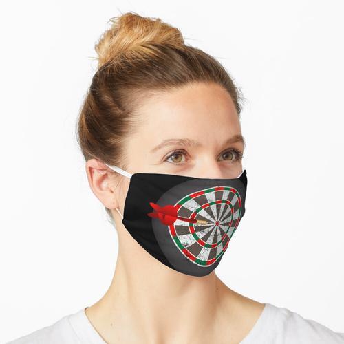 Vintage Darts Dartscheibe Maske