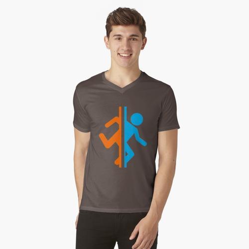 Portal - Portal t-shirt:vneck