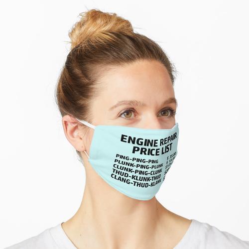 Preisliste für Motorreparatur Maske