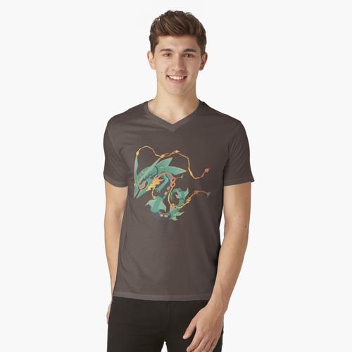 Mega Rayquaza t-shirt:vneck